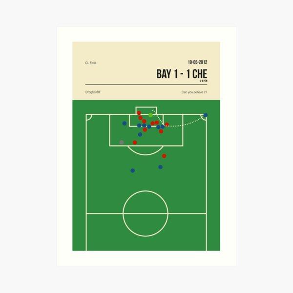 Chelsea Didier Drogba CL Header Goal Art Print
