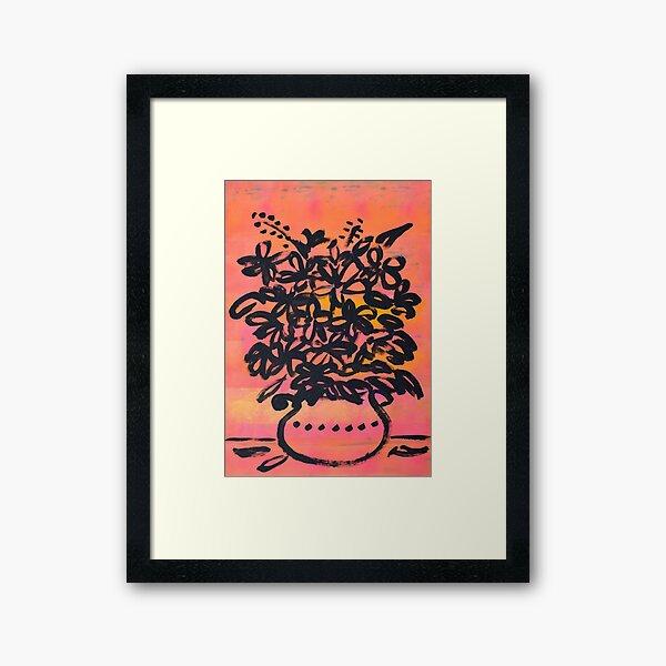Blumenstrauß  Gerahmter Kunstdruck
