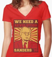 Bernie Sanders - We Need a Revolution Women's Fitted V-Neck T-Shirt