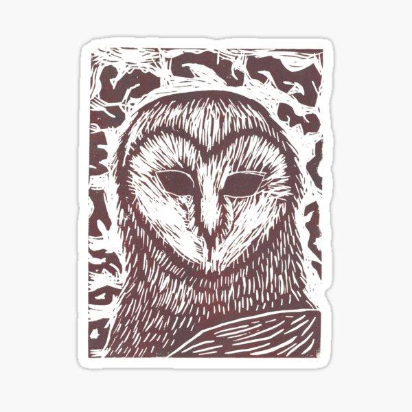 Owl - Rust Sticker