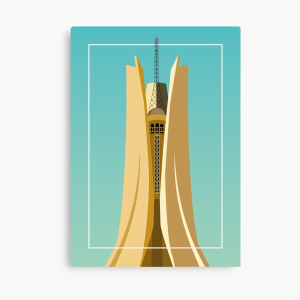 Monument of the Martyr Algiers Canvas Print