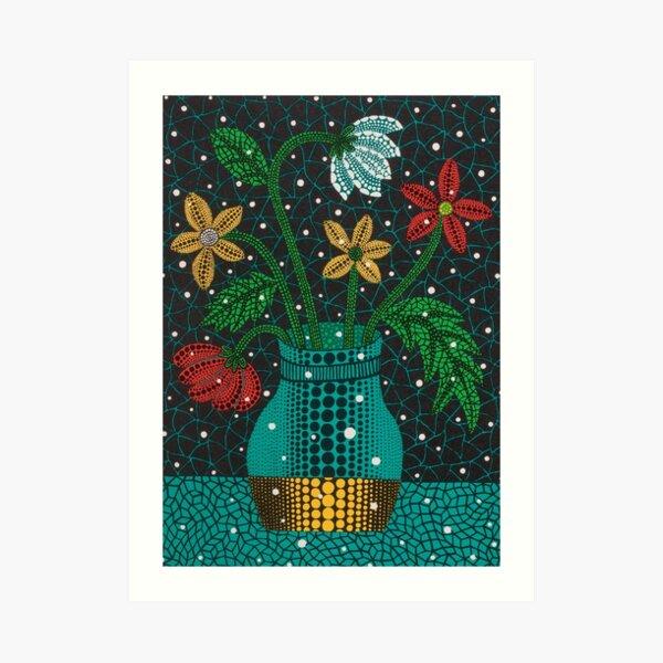 Yayoi Kusama Infinity Netzblumen Kunstdruck