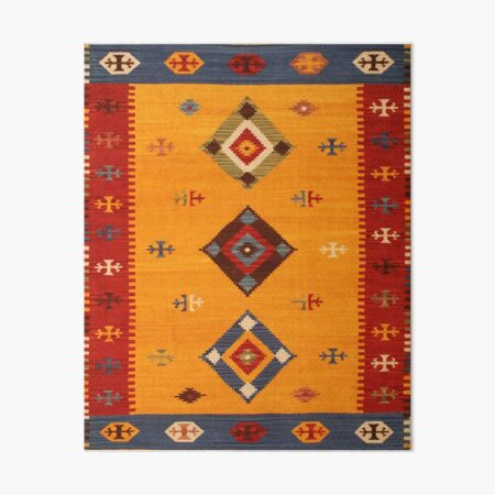 Heritage Colored Traditional Bohemian Moroccan Style  Art Board Print