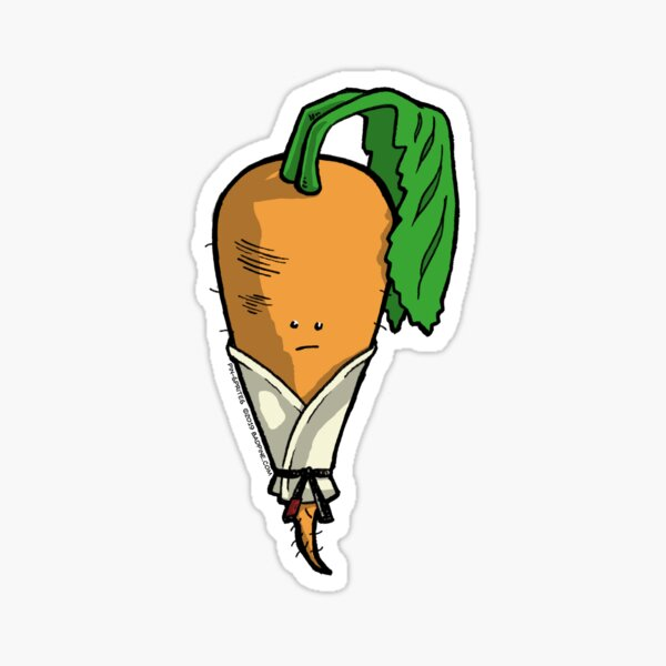 Pin-Sprites - Carrot in a Gi - Color/Face Sticker