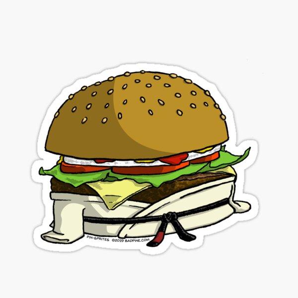 Pin-Sprites - Burger in a Gi - Color/No-Face Sticker
