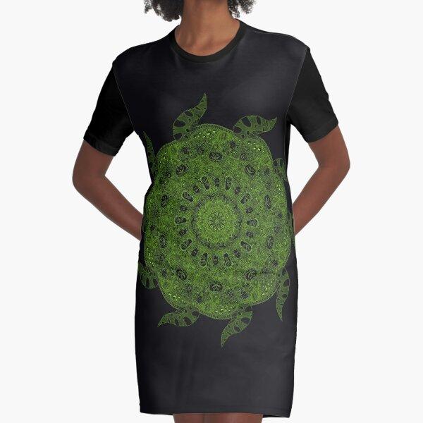 Halloween Mandala Madness Graphic T-Shirt Dress