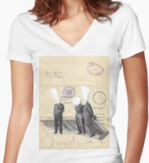 Three Brothers Women's Fitted V-Neck T-Shirt