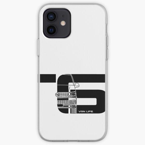 Vanlife - T6 - medio negro Funda blanda para iPhone