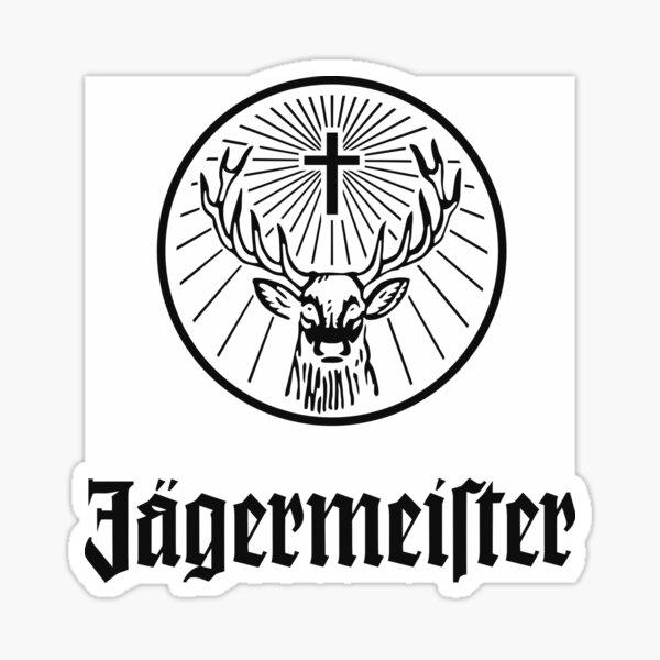 Logotipo de Jagermeister para hombre Pegatina