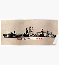 Cracow skyline Poster