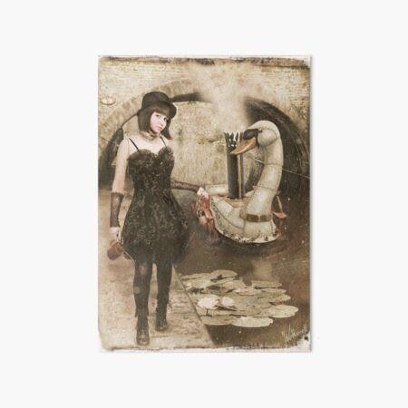 Steampunk Swan Art Board Print