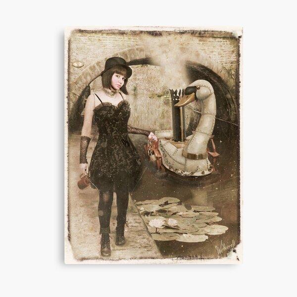 Steampunk Swan Canvas Print