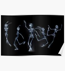 Dancing Skeletons X ray Poster