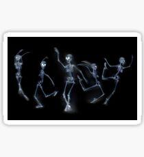 Dancing Skeletons X ray Sticker