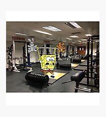Spongebob Lifting Photographic Print