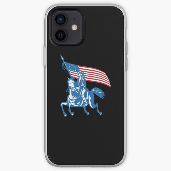 BETSY ROSS FLAG SOLDIER AND HORSE iPhone Soft Case