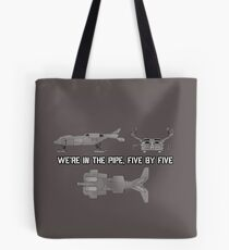 "Dropship - ""Five By Five"" [Aliens] Tote Bag"