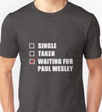 Waiting For Paul Wesley Unisex T-Shirt