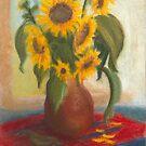 Sonnenblumen in einer Vase von Jens-Uwe Friedrich