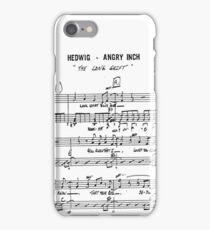 The Long Grift ~ Hedwig and the Angry Inch ~ Sheet Music Collection iPhone Case/Skin
