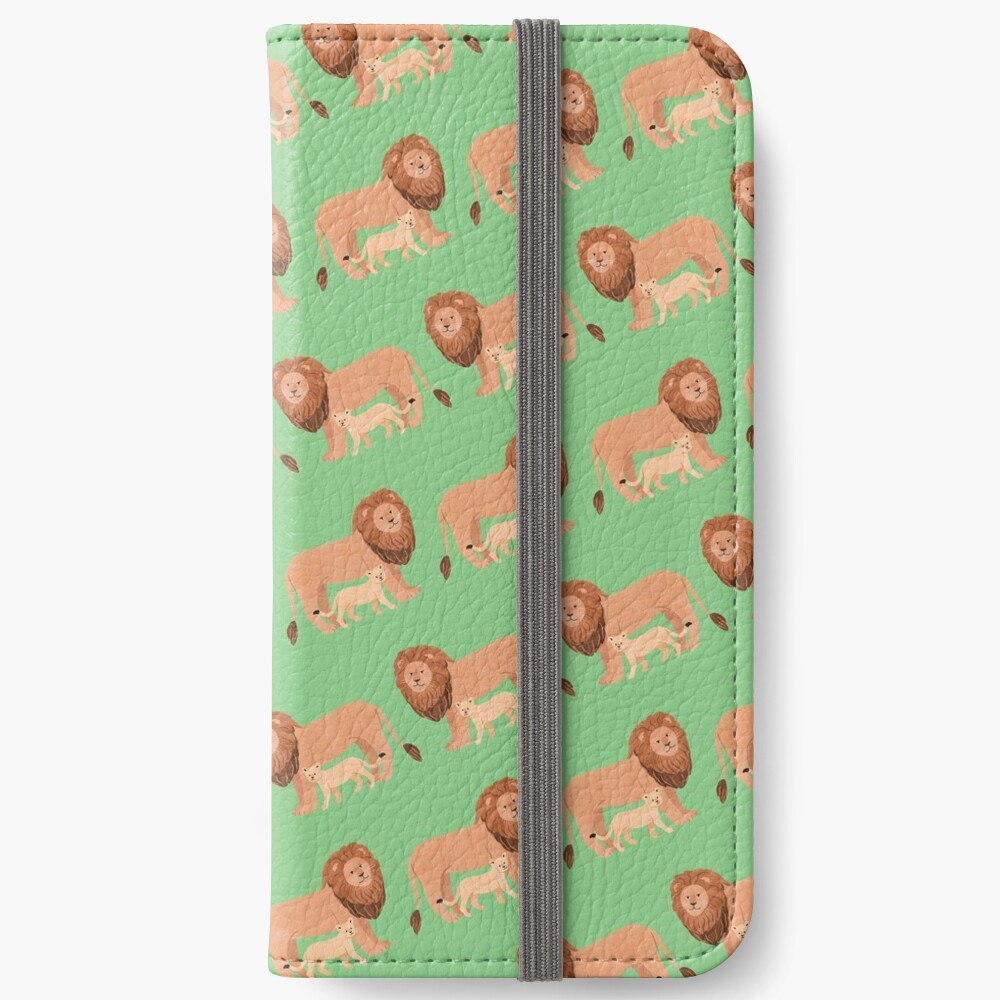 Father and Baby Lion iPhone Wallet