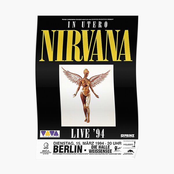 Live In Utero 1994 Poster