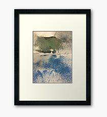Smudges in Oil Pastel Framed Print