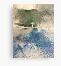 Smudges in Oil Pastel Metal Print
