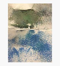 Smudges in Oil Pastel Photographic Print