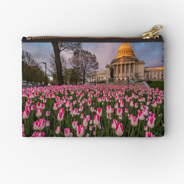 Madison Capitol in the Spring Zipper Pouch