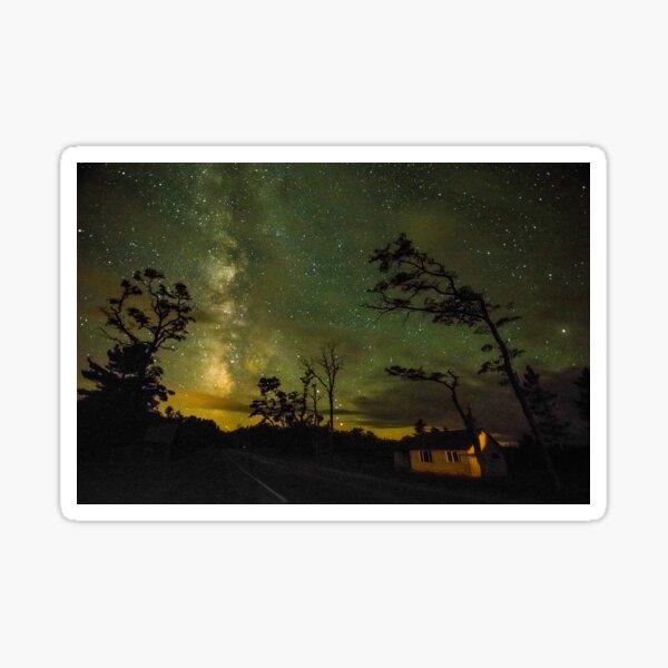 Night Sky in Glen Haven Sticker