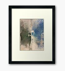 Smudges 2 in Oil Pastel Framed Print