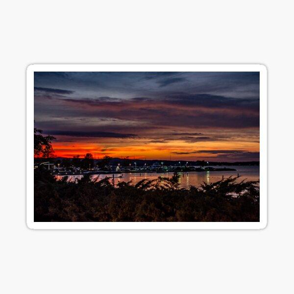 Sunset on West Bay Sticker