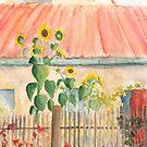 kleiner Bauerngarten mit Sonnenblumen von Jens-Uwe Friedrich
