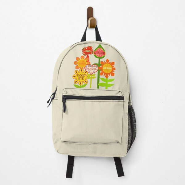 It's A Small World Goodbye Room Flowers Backpack