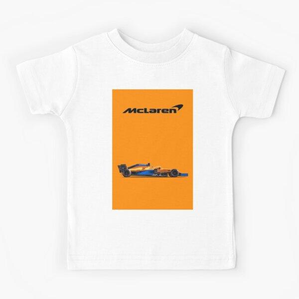 Diseño del logo del equipo Mclaren Formula 1 Camiseta para niños