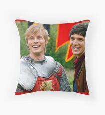 Merlin and Arthur being dorks - Merthur -  Throw Pillow