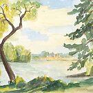 sonniger Spätsommertag am See von Jens-Uwe Friedrich