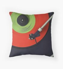 Recording Studio Furniture Wall Art & Gear | Music Studio Decor Design | Vinyl Record Turntable Dj Throw Pillow
