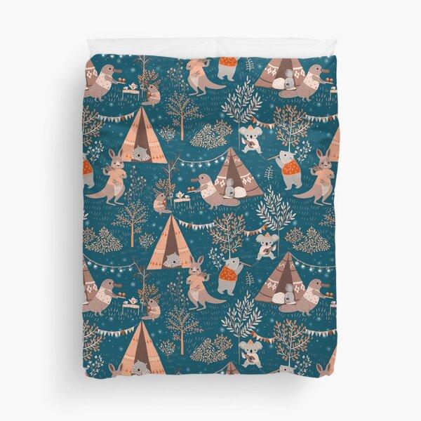 Australian camping Duvet Cover