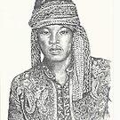 Gaze of a Man pointillism by tqueen