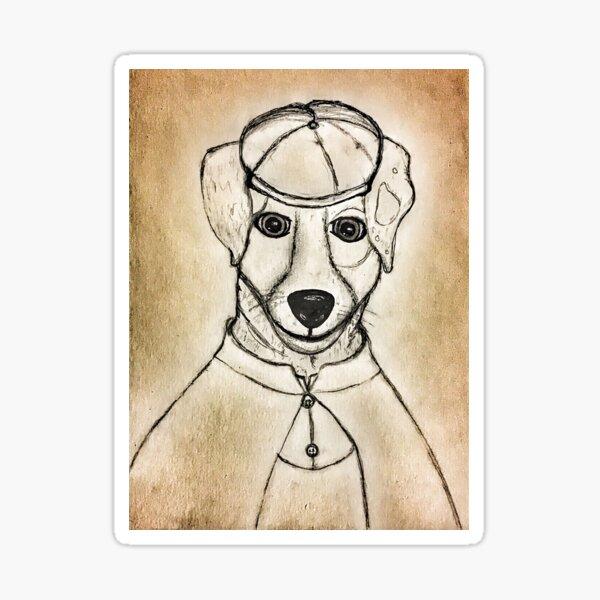 Sherlock Holmes Doggie Detective Sticker