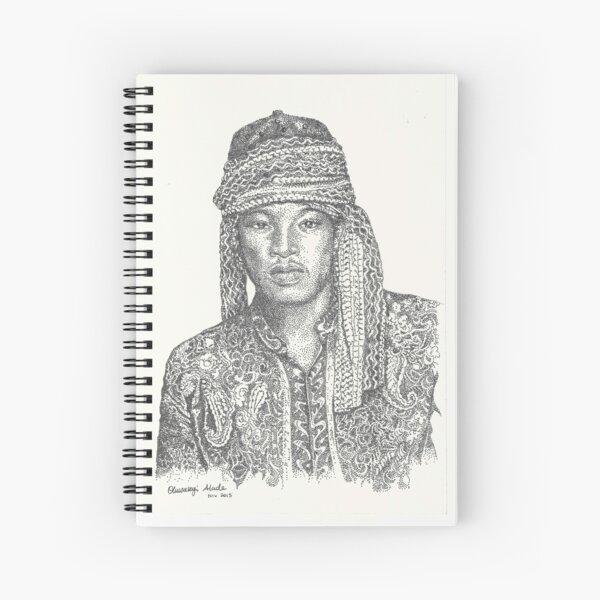 Gaze of a Man pointillism Spiral Notebook