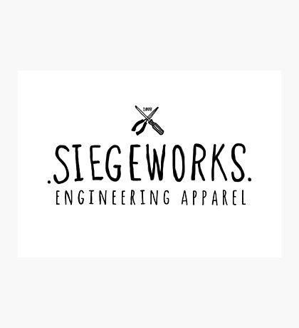 Siegeworks engineering apparel Photographic Print
