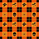 Halloween Plaid by Mechanical-Koi