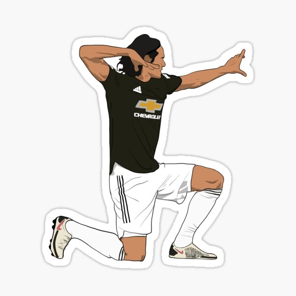 Edinson Cavani Arrow Célébration MUFC Sticker