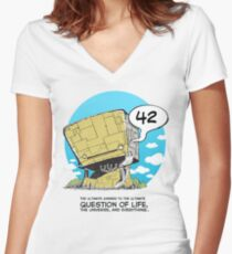 42 Women's Fitted V-Neck T-Shirt