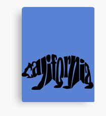black california bear Canvas Print