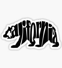 black california bear Sticker