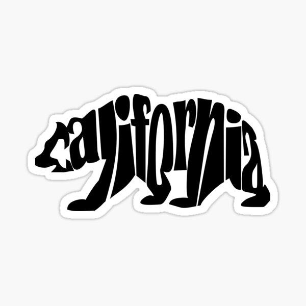 black california bear Sticker